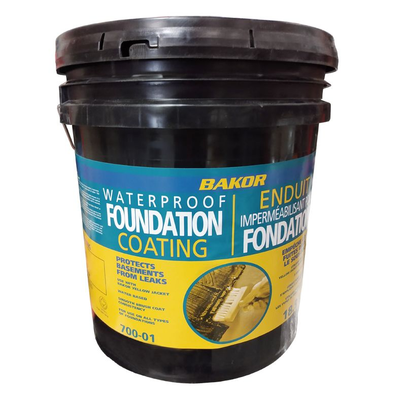 700-01 WATERPROOFING FOUNDATION COATING 18.9L PAIL