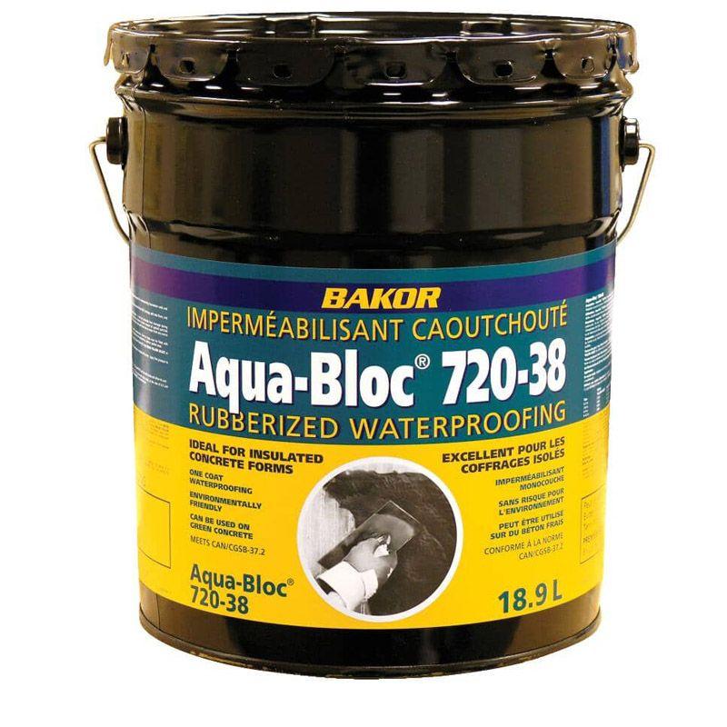 AQUA-BLOC 720-38 RUBBERIZED WATERPROOFING 18.9L PAIL