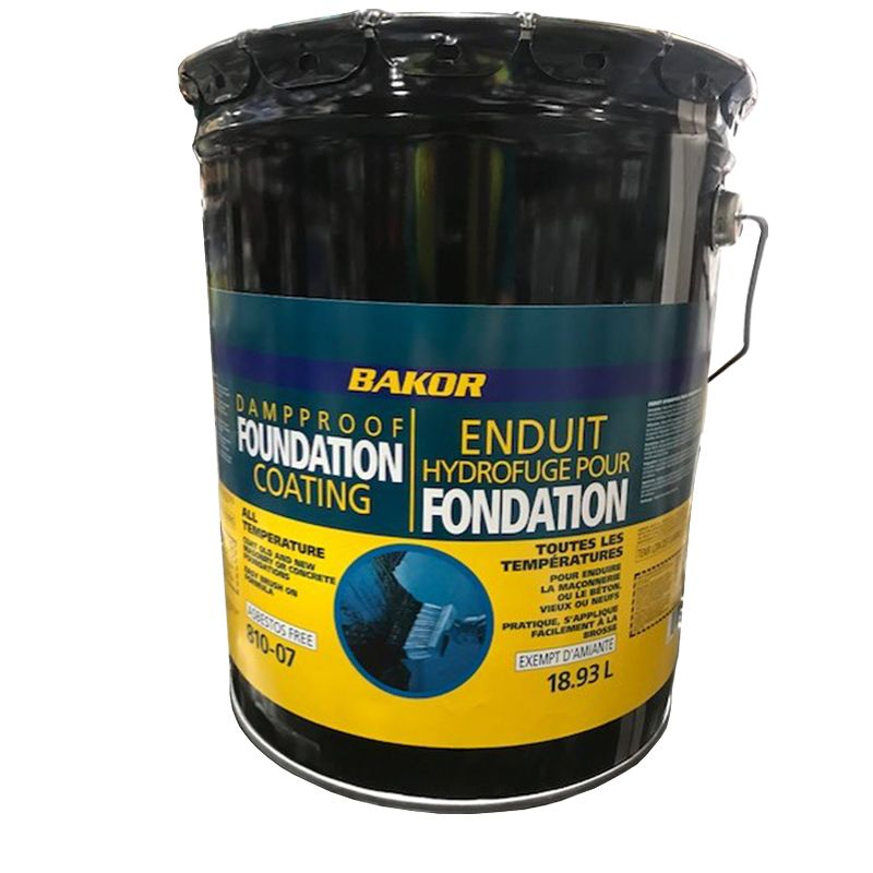 810-07 DAMPPROOF FOUNDATION COATING 18.9L PAIL