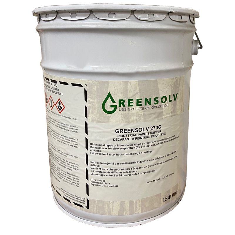 GREENSOLV 273C INDUSTRIAL PAINT STRIPPER GEL W/WAX 18.9L