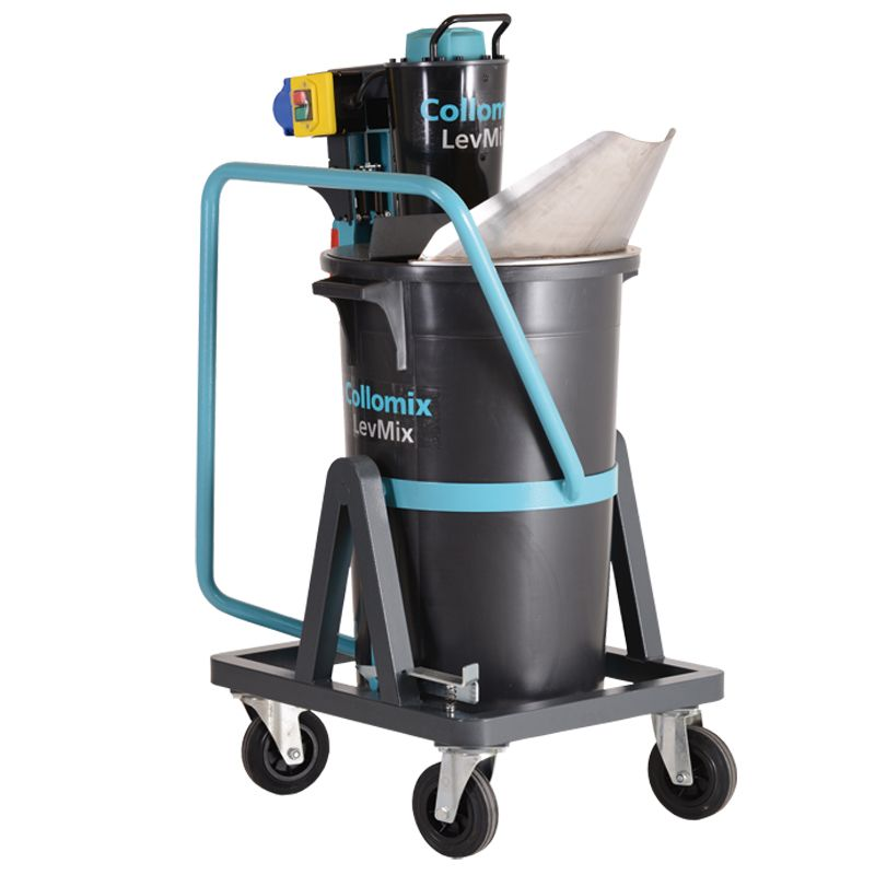LEVMIX65 HEAVY DUTY PORTABLE MIXER INCL.SPECIAL PADDLE, WHEELED BASE N.S,