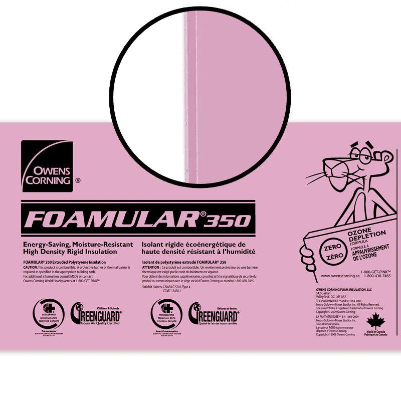 "FOAMULAR 350 SHIPLAP 2.5"" X 24"" X 48"" PER SHEET"