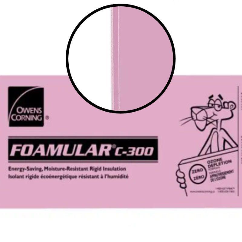 "FOAMULAR C-300 SHIPLAP 2.5"" X 24"" X 96"" PER SHEET"