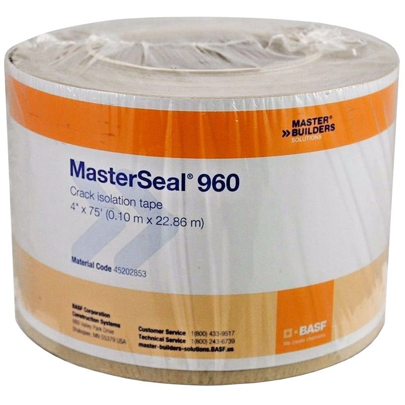 """MASTERSEAL 960 CRACK ISOLATION TAPE 4"""" X 75' ROLL DISCONTINUED"""