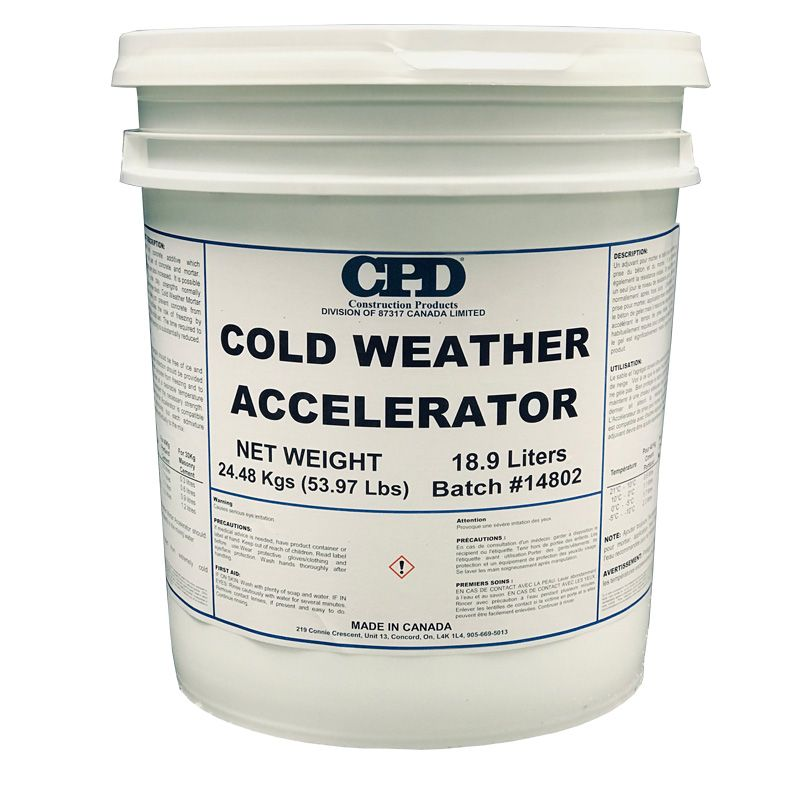 COLD WEATHER MORTAR ACCELERATOR 5G PAIL N.S