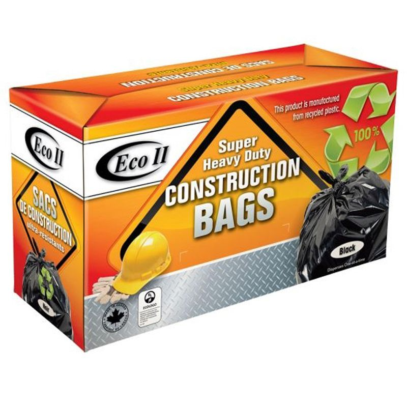 CONSTRUCTION GARBAGE BAGS 2MIL 26X36 45/BX