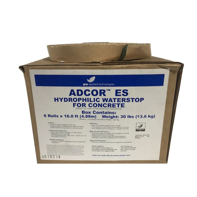 ADCOR ES HYDROPHILIC WATERSTOP 16' ROLL #67526 DISCONTINUED CALL FOR PRICING