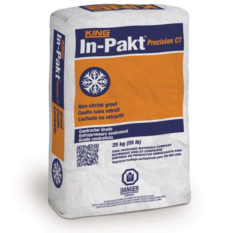 IN-PAKT PRECISION CT GROUT #645249 25KG BAG N.S