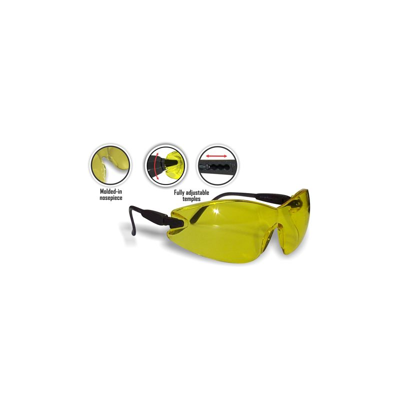 BROOKLYN SAFETY GLASSES CL WRAP LENS