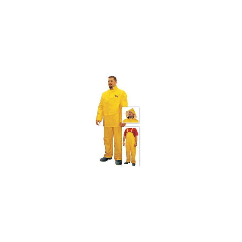 STORM FIGHTER 3PC YELLOW RAINSUIT MED