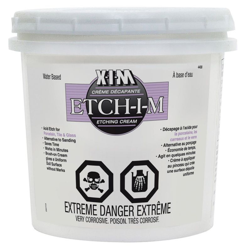 XIM ETCH-I-M WATER BASE ACID ETCHING CREAM 1 QRT N.S