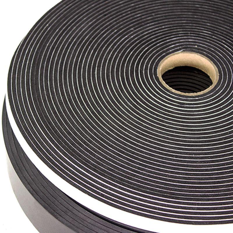 """PS721 SPONGE NEOPRENE BLACK ADH BACKED 1/8"""" X 1"""" X 50' ROLL 900'/CS N.S"""