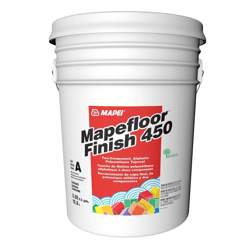 MAPEFLOOR FINISH 450 PART A 001 LIGHT GREY 3.68G PAIL CALL FOR PRICING