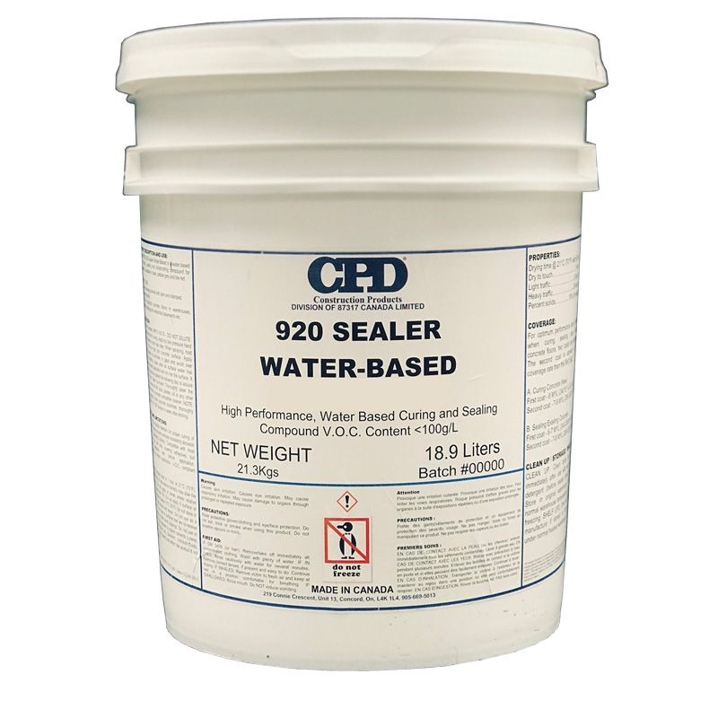 CPD 920 CONCRETE SEALER WB CLEAR 18.9L PAIL