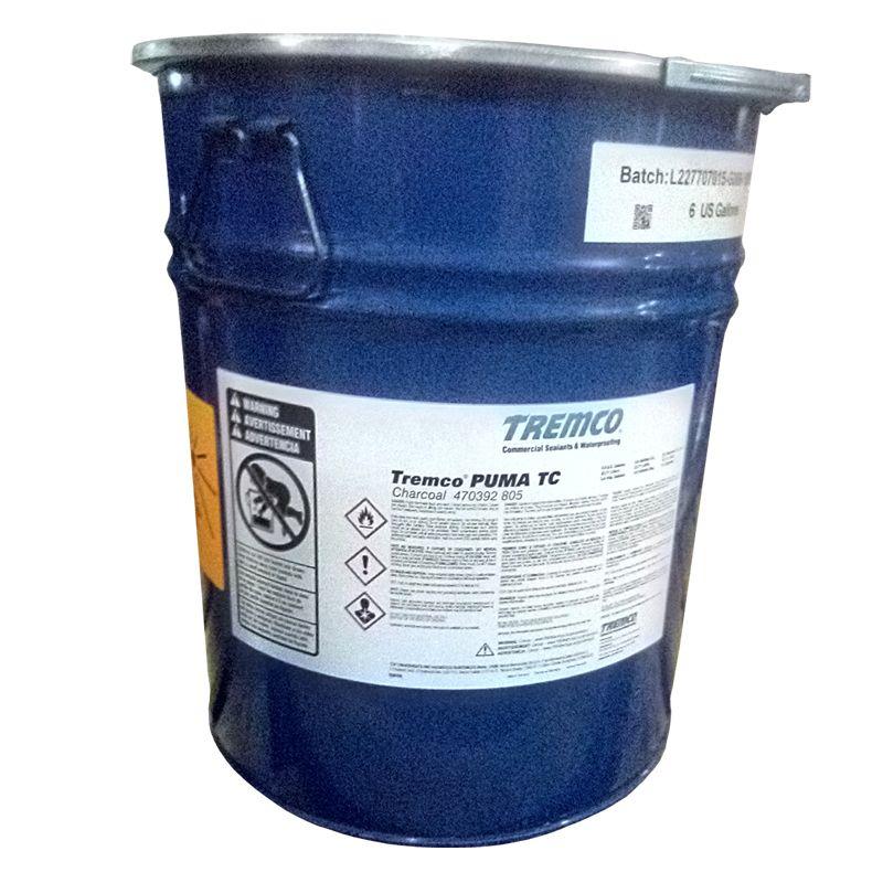 TREMCO PUMA TC CHARCOAL 22.7L/6G PAIL