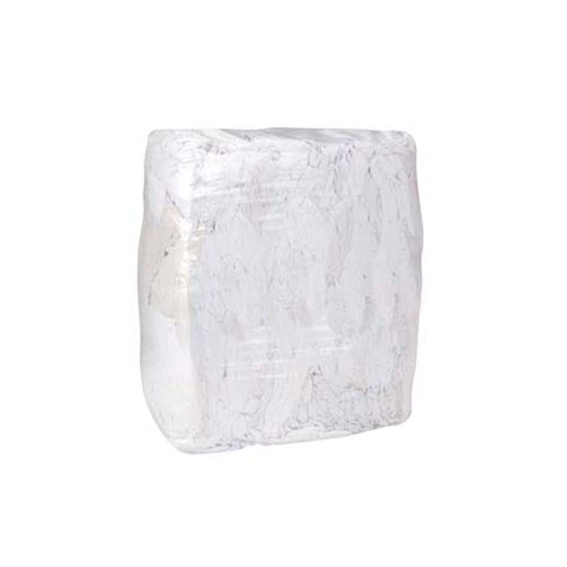 RAGS, WHITE, 25LB BAG W-POLO-CT