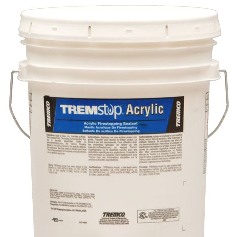 TREMSTOP ACRYLIC GG WHITE 18.9L PAIL