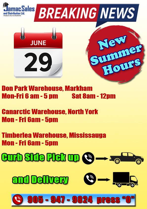 June Summer Hours